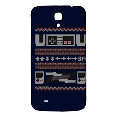 Old School Ugly Holiday Christmas Blue Background Samsung Galaxy Mega I9200 Hardshell Back Case