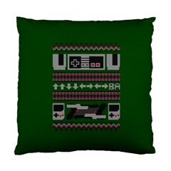 Old School Ugly Holiday Christmas Green Background Standard Cushion Case (one Side)