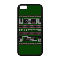Old School Ugly Holiday Christmas Green Background Apple Iphone 5c Seamless Case (black)