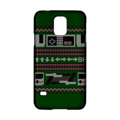 Old School Ugly Holiday Christmas Green Background Samsung Galaxy S5 Hardshell Case