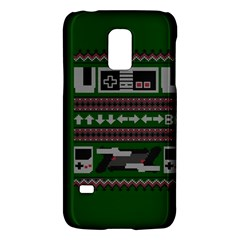Old School Ugly Holiday Christmas Green Background Galaxy S5 Mini