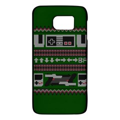 Old School Ugly Holiday Christmas Green Background Galaxy S6