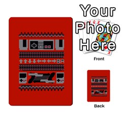 Old School Ugly Holiday Christmas Red Background Multi Purpose Cards (rectangle)