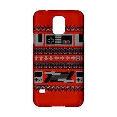 Old School Ugly Holiday Christmas Red Background Samsung Galaxy S5 Hardshell Case