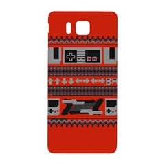 Old School Ugly Holiday Christmas Red Background Samsung Galaxy Alpha Hardshell Back Case