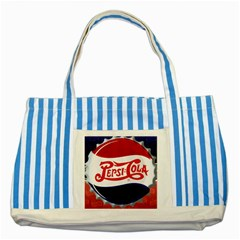Pepsi Cola Striped Blue Tote Bag