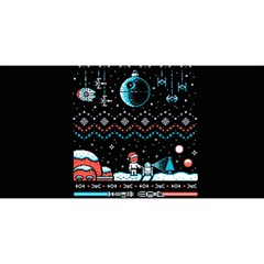 That Snow Moon Star Wars  Ugly Holiday Christmas Black Background You Are Invited 3d Greeting Card (8x4)