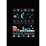 That Snow Moon Star Wars  Ugly Holiday Christmas Black Background YOU ARE INVITED 3D Greeting Card (7x5) Inside