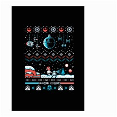 That Snow Moon Star Wars  Ugly Holiday Christmas Black Background Small Garden Flag (two Sides)