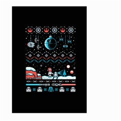 That Snow Moon Star Wars  Ugly Holiday Christmas Black Background Large Garden Flag (two Sides)
