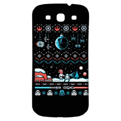 That Snow Moon Star Wars  Ugly Holiday Christmas Black Background Samsung Galaxy S3 S III Classic Hardshell Back Case