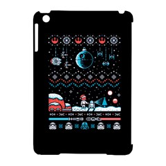 That Snow Moon Star Wars  Ugly Holiday Christmas Black Background Apple iPad Mini Hardshell Case (Compatible with Smart Cover)