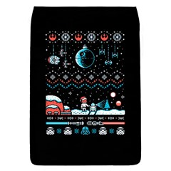 That Snow Moon Star Wars  Ugly Holiday Christmas Black Background Flap Covers (S)