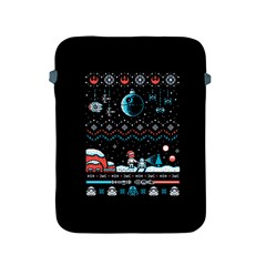 That Snow Moon Star Wars  Ugly Holiday Christmas Black Background Apple iPad 2/3/4 Protective Soft Cases
