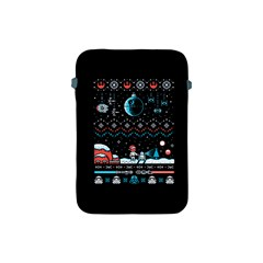 That Snow Moon Star Wars  Ugly Holiday Christmas Black Background Apple iPad Mini Protective Soft Cases