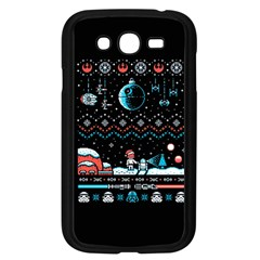 That Snow Moon Star Wars  Ugly Holiday Christmas Black Background Samsung Galaxy Grand DUOS I9082 Case (Black)
