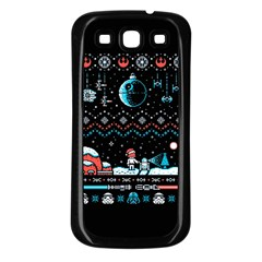 That Snow Moon Star Wars  Ugly Holiday Christmas Black Background Samsung Galaxy S3 Back Case (Black)