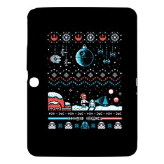 That Snow Moon Star Wars  Ugly Holiday Christmas Black Background Samsung Galaxy Tab 3 (10.1 ) P5200 Hardshell Case