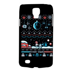 That Snow Moon Star Wars  Ugly Holiday Christmas Black Background Galaxy S4 Active