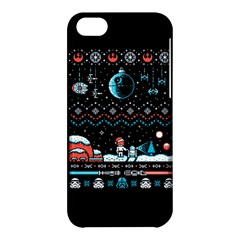 That Snow Moon Star Wars  Ugly Holiday Christmas Black Background Apple iPhone 5C Hardshell Case