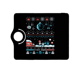That Snow Moon Star Wars  Ugly Holiday Christmas Black Background Kindle Fire HDX 8.9  Flip 360 Case