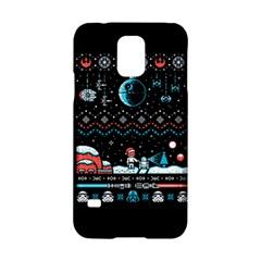 That Snow Moon Star Wars  Ugly Holiday Christmas Black Background Samsung Galaxy S5 Hardshell Case