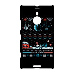That Snow Moon Star Wars  Ugly Holiday Christmas Black Background Nokia Lumia 1520