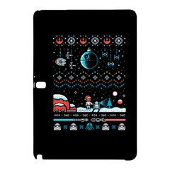 That Snow Moon Star Wars  Ugly Holiday Christmas Black Background Samsung Galaxy Tab Pro 10.1 Hardshell Case
