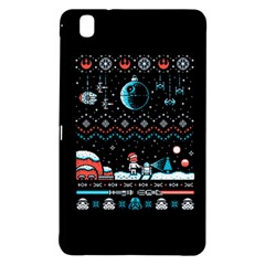 That Snow Moon Star Wars  Ugly Holiday Christmas Black Background Samsung Galaxy Tab Pro 8 4 Hardshell Case