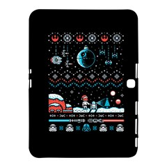 That Snow Moon Star Wars  Ugly Holiday Christmas Black Background Samsung Galaxy Tab 4 (10.1 ) Hardshell Case