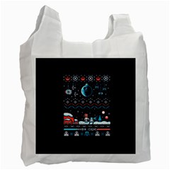 That Snow Moon Star Wars  Ugly Holiday Christmas Blue Background Recycle Bag (two Side)