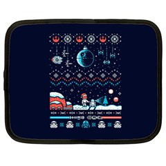 That Snow Moon Star Wars  Ugly Holiday Christmas Blue Background Netbook Case (xxl)