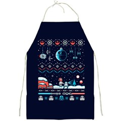 That Snow Moon Star Wars  Ugly Holiday Christmas Blue Background Full Print Aprons