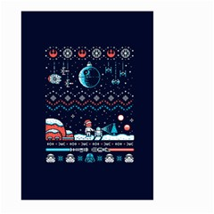 That Snow Moon Star Wars  Ugly Holiday Christmas Blue Background Large Garden Flag (two Sides)