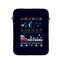 That Snow Moon Star Wars  Ugly Holiday Christmas Blue Background Apple Ipad 2/3/4 Protective Soft Cases