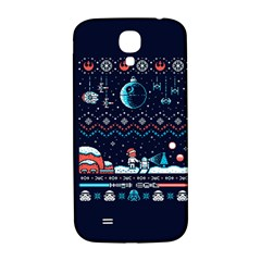 That Snow Moon Star Wars  Ugly Holiday Christmas Blue Background Samsung Galaxy S4 I9500/i9505  Hardshell Back Case