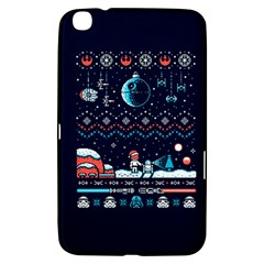 That Snow Moon Star Wars  Ugly Holiday Christmas Blue Background Samsung Galaxy Tab 3 (8 ) T3100 Hardshell Case