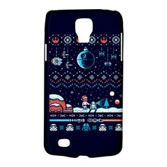 That Snow Moon Star Wars  Ugly Holiday Christmas Blue Background Galaxy S4 Active