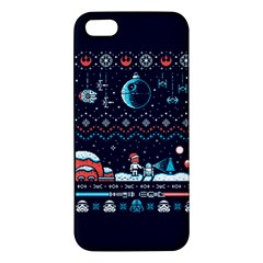 That Snow Moon Star Wars  Ugly Holiday Christmas Blue Background Iphone 5s/ Se Premium Hardshell Case