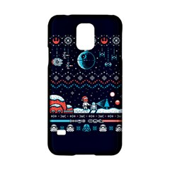 That Snow Moon Star Wars  Ugly Holiday Christmas Blue Background Samsung Galaxy S5 Hardshell Case