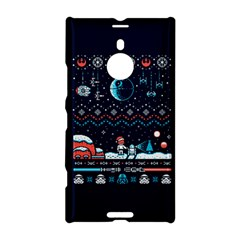 That Snow Moon Star Wars  Ugly Holiday Christmas Blue Background Nokia Lumia 1520