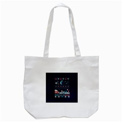 That Snow Moon Star Wars  Ugly Holiday Christmas Blue Background Tote Bag (white)