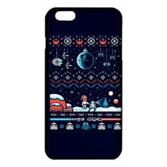 That Snow Moon Star Wars  Ugly Holiday Christmas Blue Background Iphone 6 Plus/6s Plus Tpu Case