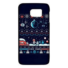 That Snow Moon Star Wars  Ugly Holiday Christmas Blue Background Galaxy S6