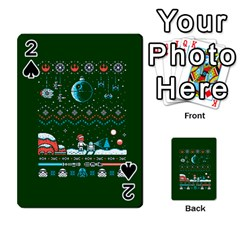 That Snow Moon Star Wars  Ugly Holiday Christmas Green Background Playing Cards 54 Designs