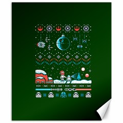 That Snow Moon Star Wars  Ugly Holiday Christmas Green Background Canvas 8  X 10