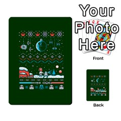 That Snow Moon Star Wars  Ugly Holiday Christmas Green Background Multi Purpose Cards (rectangle)