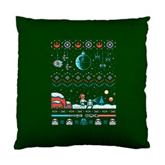 That Snow Moon Star Wars  Ugly Holiday Christmas Green Background Standard Cushion Case (one Side)
