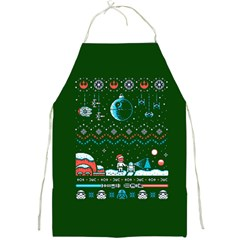 That Snow Moon Star Wars  Ugly Holiday Christmas Green Background Full Print Aprons
