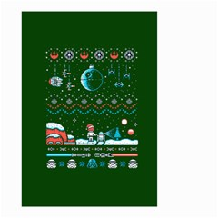 That Snow Moon Star Wars  Ugly Holiday Christmas Green Background Small Garden Flag (two Sides)